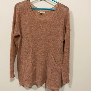 Cozy Casual lightweight sweater with pockets s/m rust color